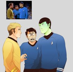 I love this, but why is Spock's face so green?