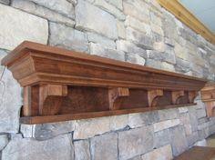 Craftsman/Victorian Fireplace Mantel Shelf Knotty Alder by Mantels