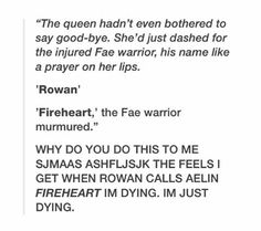 Queen of shadows, when Aelin saved manon and ran to Rowan!