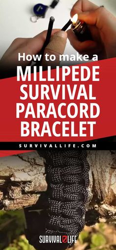 How To Make A Millipede Survival Paracord Bracelet Survival Life, Survival Prepping, Survival Skills, Survival Hacks, Survival Food, Wilderness Survival, Emergency Preparedness, Paracord Bracelet Survival, Paracord Bracelets