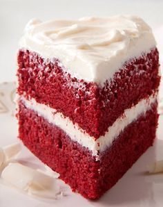 Traditional Red Velvet Cake - 30 Irresistible Fall Desserts on HGTV Fall Desserts, Just Desserts, Delicious Desserts, Dessert Recipes, Cupcake Recipes, Appetizer Recipes, Yummy Recipes, Cream Cheese Recipes, Cake With Cream Cheese