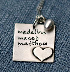 Hand Stamped Necklace Hand Stamped Jewelry by 3LittlePixiesShoppe, $56.00
