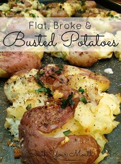 The Country Cook: Weekend Potluck #70.  Flat, Broke  Busted Potatoes