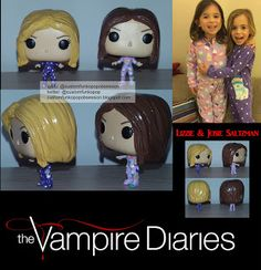 I made the custom funko pops Lizzie (Tierney Mumford) and Josie (Lily Rose Mumford) from The Vampire Diaries. I used pocket pops because th. The Originals Tv, Vampire Diaries The Originals, Funko Pop Dolls, Custom Funko Pop, Mumford, Funko Pop Marvel, Pop Vinyl Figures, Vinyls, Action Figures