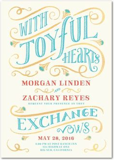Joyful hearts invite