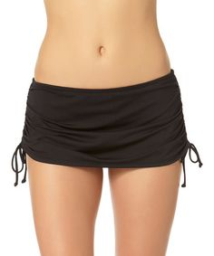 Another great find on #zulily! Black Skirted Bikini Bottoms #zulilyfinds