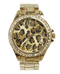Want this watch! #leopardprint #bling