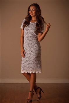 Navy White Lace Dress Charlotte Mynt, Vintage Dress, Church Dresses, dresses for church, modest bridesmaids dresses, trendy modest, modest office clothing, affordable boutique dresses, cute modest dresses, mikarose, trendy boutique