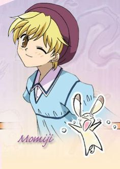He's so cute I don't really know but I think Momoji-kun is very alike to Hunny-kun from Ouran High School Host Club