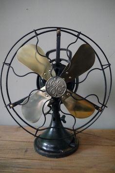 ancien ventilateur general electric industriel 1920 USA
