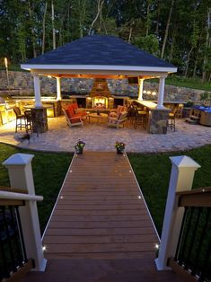 Patio and Outdoor Gazebo Design Ideas - garten - Outdoor Kitchen Ideas Backyard Garden Landscape, Backyard Patio Designs, Backyard Landscaping, Patio Ideas, Gazebo Ideas, Backyard Ideas, Backyard Gazebo, Landscape Edging, Landscaping Ideas