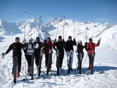 Heliski group at the Pantheons, Bella Coola Heli Sports Saddle Ranch, Ski Canada, Mount Everest, Skiing, Base, Adventure, Group, Sports, Travel