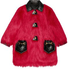 Faux Kidassia fur coat