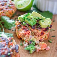 This tasty and easy Salmon Burger is not to be missed! Ditch the bun and serve it with mouthwatering Avocado Salsa.