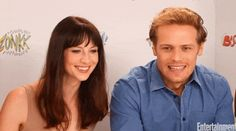 Outlander Stars Sam Heughan and Caitriona Balfe's Cutest Moments - Are Sam Heughan and Caitriona Balfe Dating Caitriona Balfe Outlander, Sam Heughan Outlander, Sam Heughan News, Hair Highlights And Lowlights, Serie Outlander, Sam And Cait, Best Portraits, Jamie And Claire, Jamie Fraser