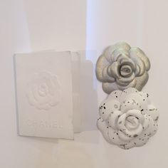 Chanel Holder and Camellias Authentic Chanel Gift Receipt Holder and Camellias CHANEL Accessories