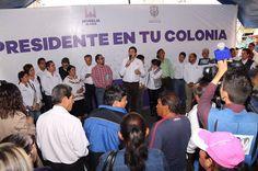 """Continúa el programa """"Presidente en tu Colonia"""" transformando la ciudad, ahora en la colonia Ventura Puente; más de 400 de personas se reunieron para recibir atención directa del alcalde, secretarios ..."""