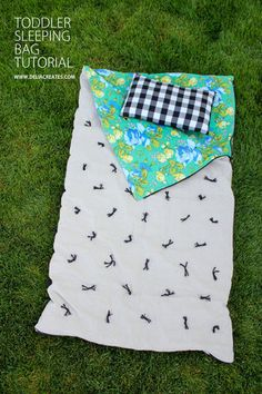DIY Toddler Sleeping Bag TUTORIAL from Delia Creates
