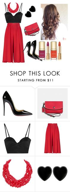 """Untitled #10"" by divinas40 on Polyvore featuring Christian Louboutin, Coach, Michael Lo Sordo, Victoria Beckham, Humble Chic, Dollydagger and Dolce&Gabbana"