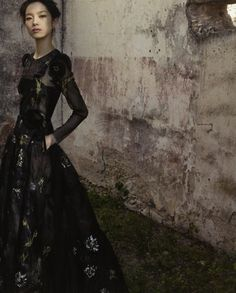 Really LOVE this one.... Sun Fei Fei by Deborah Turbeville for Valentino spring/summer 2012