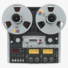 3ds max reel tape recorder studer