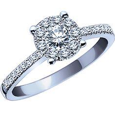 Ben Moss Jewellers Endless Love 054 Carat TW 14k White Gold