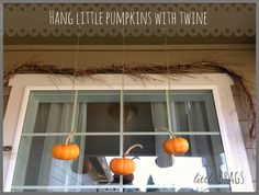 Cute idea for a porch window by Little Brags blog.  Get started on your next project with the help of Old Time Pottery and great ideas like this.  www.oldtimepottery.com
