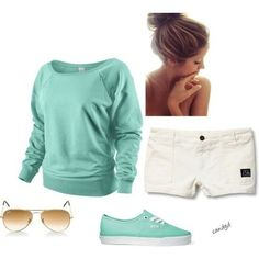 cute school outfits for teens | cute clothes for high school girls | I have to wear longer shorts though |