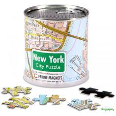 NEW YORK CITY PUZZLE - Puzzle Magnetico piantina citta' cm 36x24 Per bambini