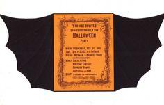 Kids Halloween Birthday Party Invitations | Bat halloween wording invitations
