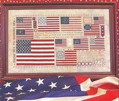 red blue cross flag