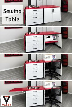 Could your sewing room use a table like this to store your sewing machine?