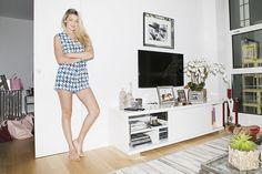 Gigi Hadid's living room - TV console