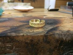 22k Solid Gold  Ring Entirely Handmade with Ancient Greek