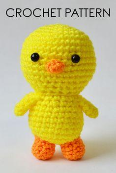 Baby Chicken Crochet Pattern Crochet Toys Patterns, Amigurumi Patterns, Stuffed Toys Patterns, Amigurumi Doll, Baby Patterns, Easter Crochet, Cute Crochet, Crochet Hooks, Baby Chickens