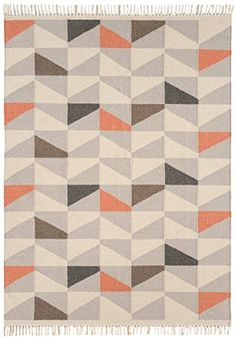 Teppich modernes Design HACKNEY KELIM GEO RUG MELON 120 cm x 170 cm 80% Wolle 20% Jute https://www.amazon.de/dp/B01GDC4I0G