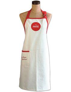 53a0afc53f4 Coke Mint Green Stripes Apron One Size Enjoy Coca-Cola Logo On 100% Cotton