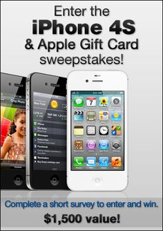 U.S Followers, Enter the iPhone 4S & Apple Gift Card sweepstakes!