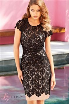 Buy Lipsy Short Sleeve Lace Dress from the Next UK online shop
