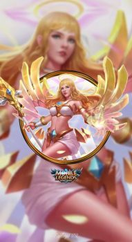 Wallpaper Phone Rafaela Wings of Holiness by FachriFHR Moba Legends, Mobile Legend Wallpaper, Hero Wallpaper, Anime Wallpaper Phone, Christmas Presents For Friends, Legend Games, The Legend Of Heroes, League Of Legends Characters, Picture Gifts