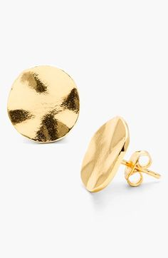 Free shipping and returns on gorjana 'Chloe' Stud Earrings at Nordstrom.com. The warm shine of 18-karat gold plating bounces around the wavy contours of these versatile, everyday stud earrings.