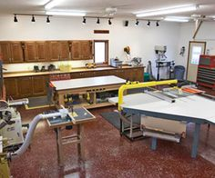 """Simply radiant shop — Winter can be brutal in Lafayette, Indiana, but Dave  doesn't care. He's out in his workshop custom-building cabinets or furniture—in his shirtsleeves. """"The best thing I did was install in-floor radiant heat. There's no open flame, no air movement, constant temperature, and a warm floor,"""" Dave says."""