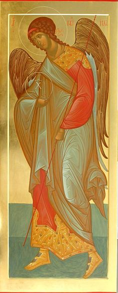 Archangel Gabriel / Работы нашей мастерской (2005-2009 годы) – 61 photos | VK Religious Pictures, Religious Icons, Religious Art, Byzantine Art, Byzantine Icons, Angel Drawing, Blessed Mother Mary, Saint Michel, Principles Of Art