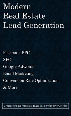 Master Real Estate Lead Generation from https://www.flyerco.com #realestate #realtor