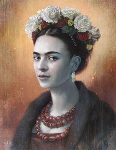 tom_bagshaw_frida_digital_painting_original_art.jpg (550×709)