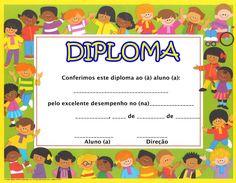 Clique aqui para ver mais diplomas>>>>   Apresentação: Marcas do que se foi...... Dj Inkers, Preschool Graduation, School Pictures, Early Childhood Education, Sunday School, Diy And Crafts, Kindergarten, Clip Art, Activities