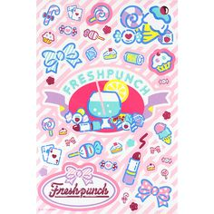 Fresh punch seal colorful design series