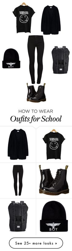 """I Can't Wait For School And Fall "" by zasad on Polyvore featuring Acne Studios, Dr. Martens, J Brand, Herschel and BOY London"
