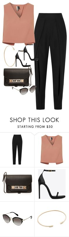 """Untitled #3886"" by olivia-mr ❤ liked on Polyvore featuring Jonathan Simkhai, Topshop, Proenza Schouler, Yves Saint Laurent, Miu Miu and ZoÃ« Chicco"