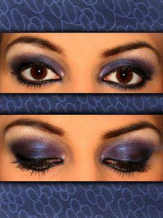Navy Smokey eye! Gorgeous